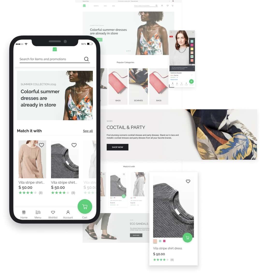 Integra Vue Storefront con Magento, Shopware e Prestashop